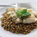 receta de lentejas con pescado