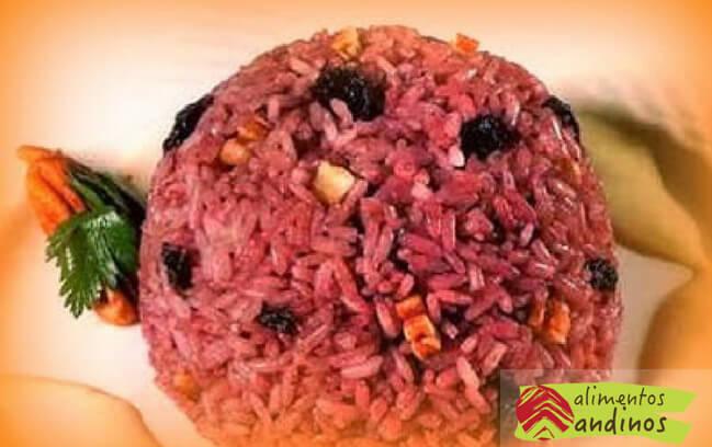 receta de arroz arabe de maíz morado