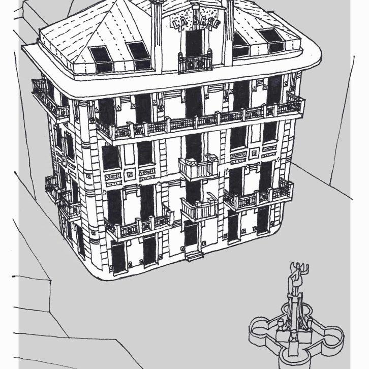 Dibujo de la Casa Cabanela