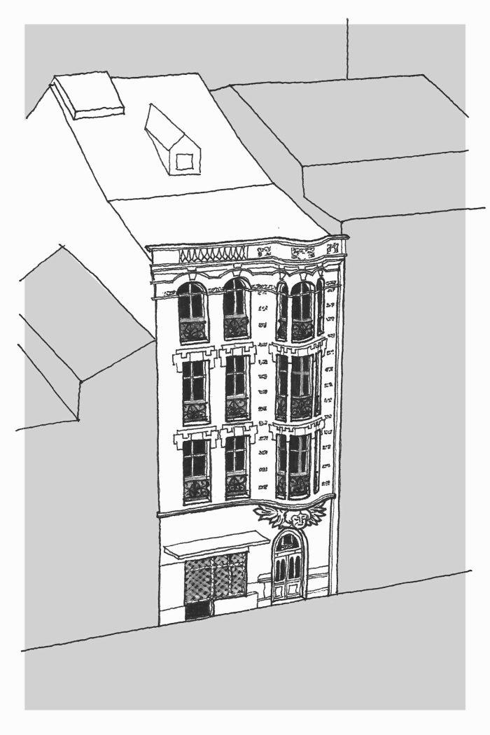 Dibujo del nº 150 de avenida de oza