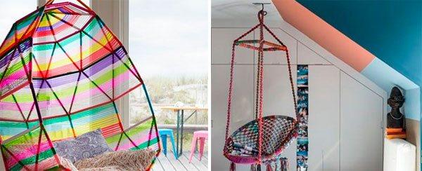 Hasır renkli koltuklar