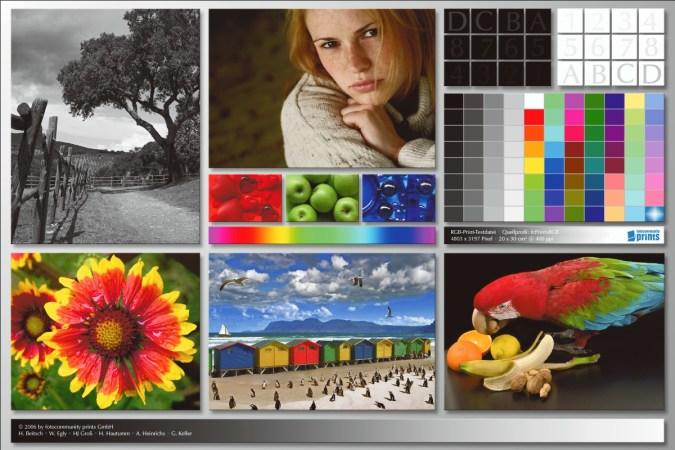 Цветовой профиль принтера Canon PIXMA iX6840   Цветопроба