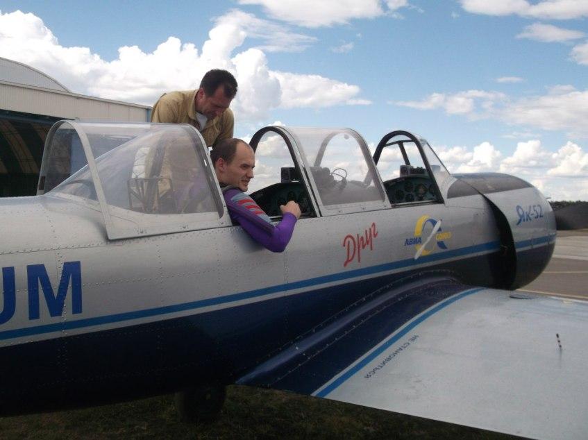 Евгений Лоскутов и самолеты