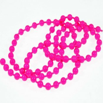 bead chain eyes -fluo pink