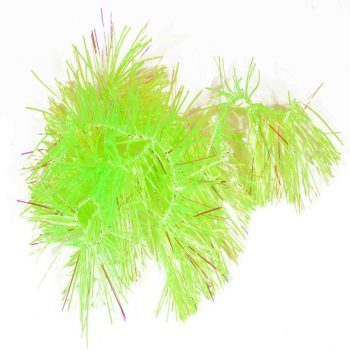 rubber n` flash hackle -chartreuse