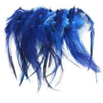 cock saddle hackle -blue