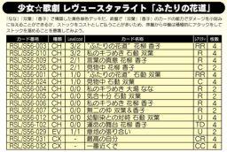 「ふたりの花道」デッキ:少女☆歌劇 レヴュースタァライト公式デッキレシピ