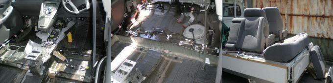 水没による冠水車も丸洗いしてきれいにします。 大阪のルームクリーニング専門店!ルームクリーニング大阪/高槻/枚方/茨木/島本