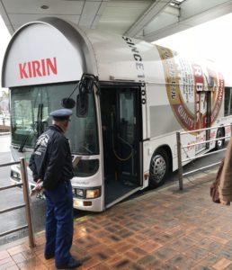 キリンバスが迎えに来てくれます!