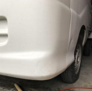 ハイゼットトラック S200P バンパー デントリペア 施工後!