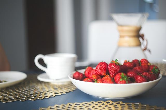 jordbær melk fløte