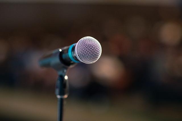 mikrofon musikk tale
