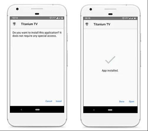 installer titanium tv apk sur android