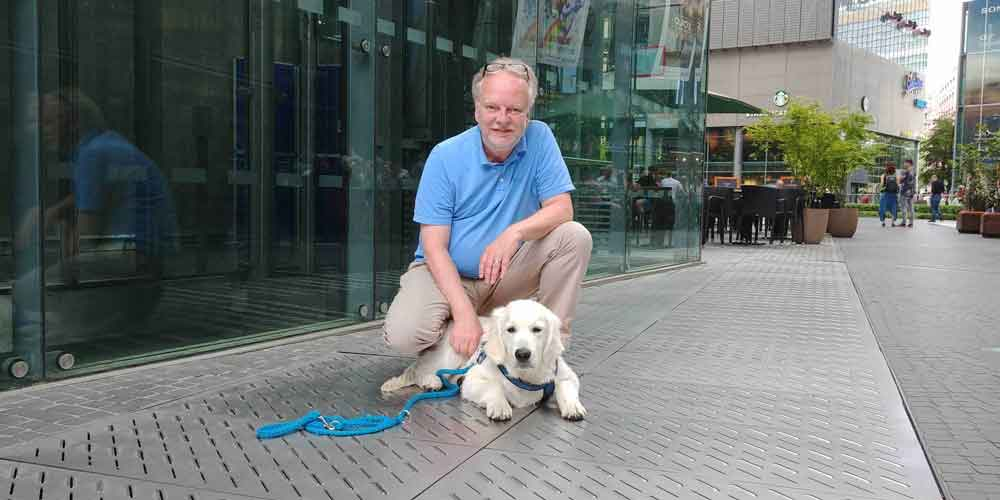 Bürohund Nando mit Markus Beyer im Stern Interview