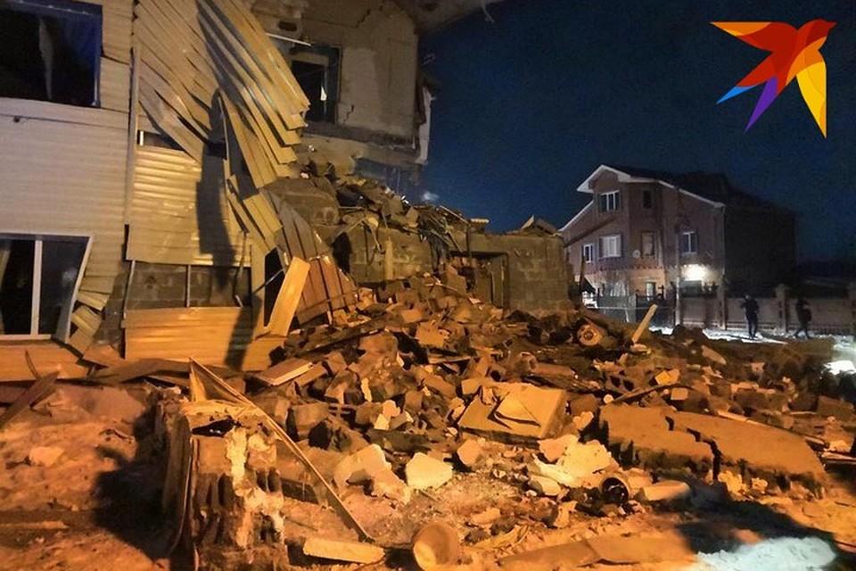 В Красноярске в трехэтажном особняке взорвался газ: разрушена половина дома
