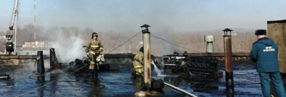 21.03.19 — взрыв газовых баллонов на кровле пром.предприятия в Челябинской области
