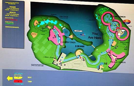 ヒルトンワイコロワヴィレッジ トラム地図