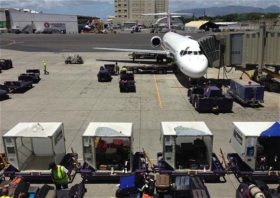 ホノルル空港乗継 ハワイ島