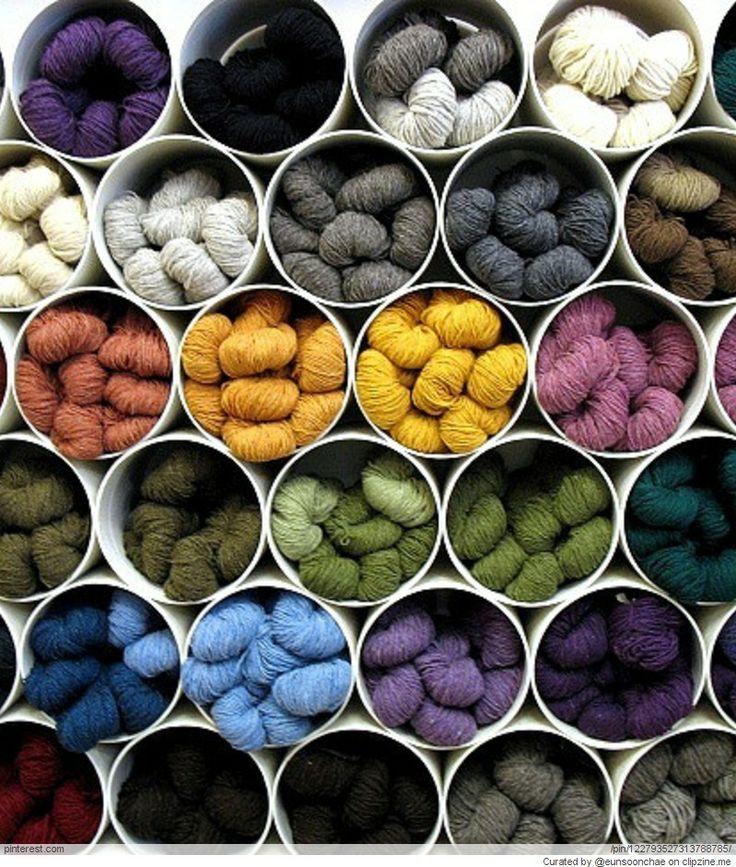 大量に毛糸を保有してる方必見!『魅せる』毛糸収納術23選