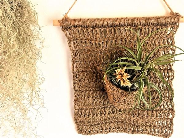 【かぎ針】100均麻紐!オシャレなかぎ針編みウォールハンギングの作り方
