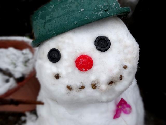 雪だるまの作り方・サラサラの雪質では?目や鼻、口は?