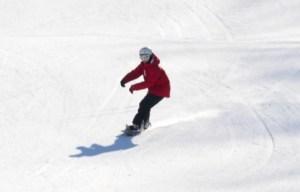 スノーボード滑走