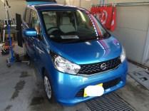 ニッサン デイズ 板金塗装しない自動車のヘコミ修理 デントリペアY2京都 大阪 滋賀 奈良