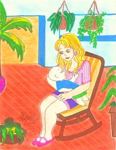 dibujo-de-madre-cargando-bebe