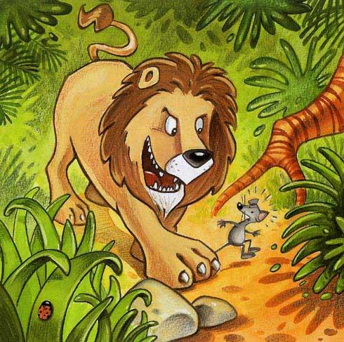 GRATIS) Cuento CORTO: El León y el Ratón