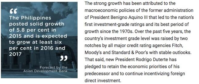 フィリピンへの投資 日本とアメリカがメイン