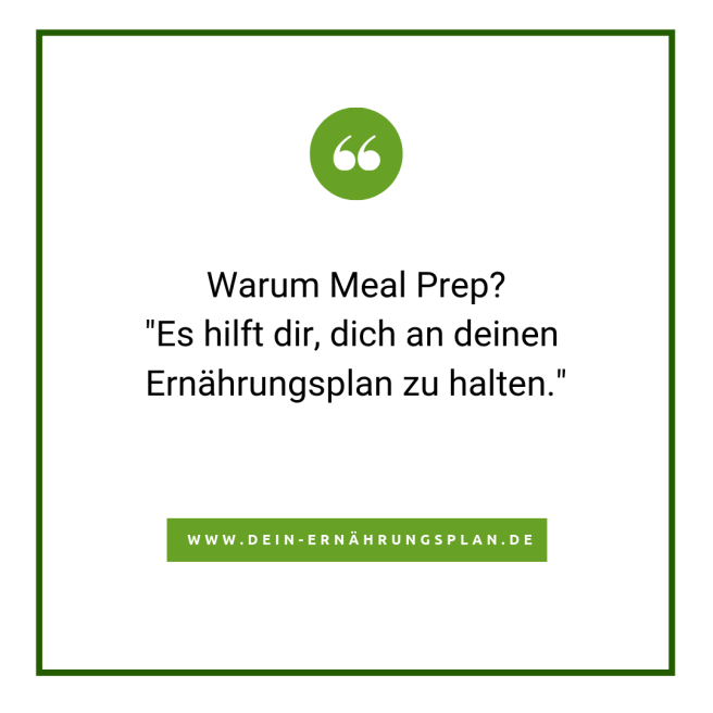Warum Meal Prep