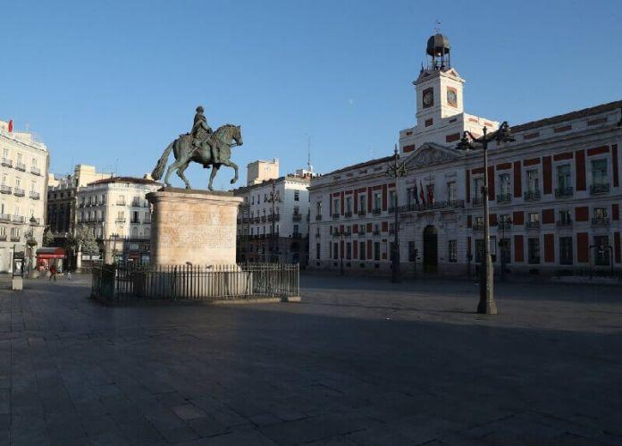 puerta del sol madrid ciudades vacías por coronavirus
