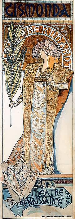 1894 Gismonda. Alphonse Mucha