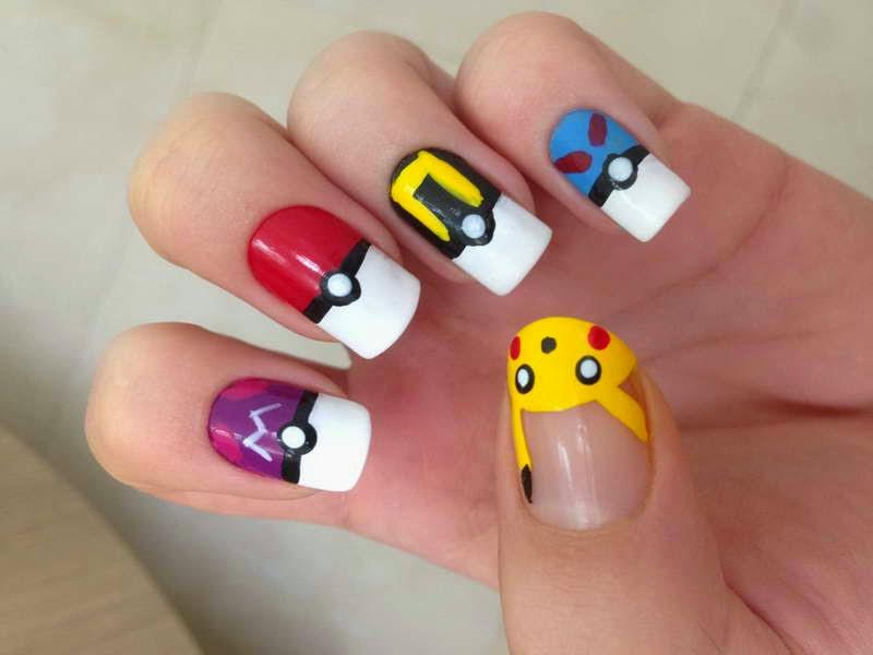 Diseño Pokemon par tus uñas