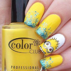 minions decoracion en uñas