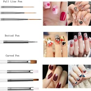 pinceles para decoraciones de uñas