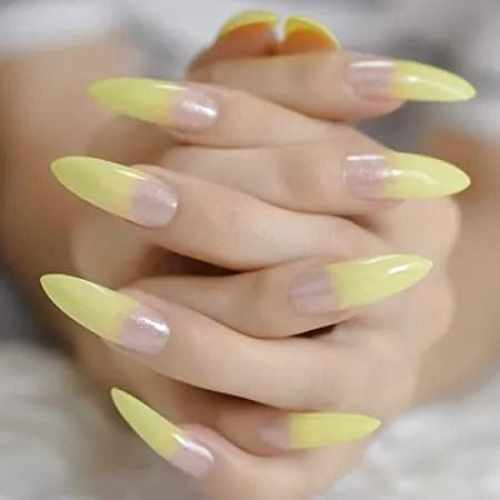 disenos-de-unas-Acrilicas color amarillo