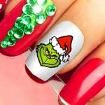 diseños de uñas sencillos para navidad