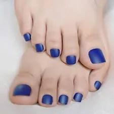pedicura sencilla color azul