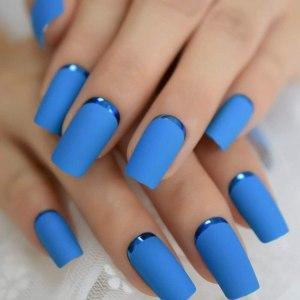 Decoraciones de uñas Azules