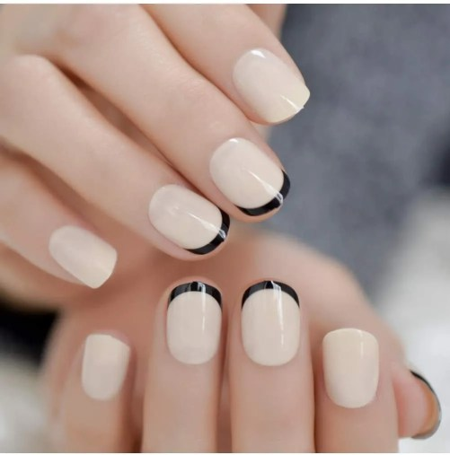 ejemplos de diseños de uñas de gel cortas