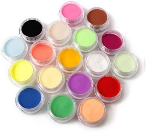 ejemplos de diferentes colores de uñas acrílicas 2022