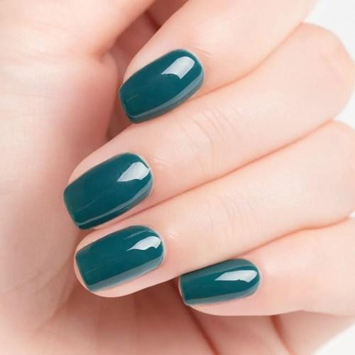 Permanente Uñas UV LED para Manicura Nail Art, Verde Azulado, uñas de Verano Fresco