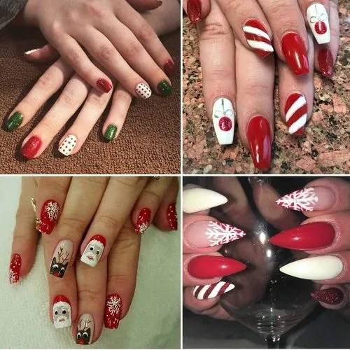 Diseños de uñas de navidad para fiestas de fin de año