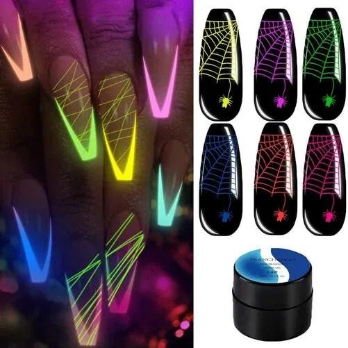 Esmalte De Uñas Conjunto De Esmalte De Uñas De Gel Luminoso Manicura
