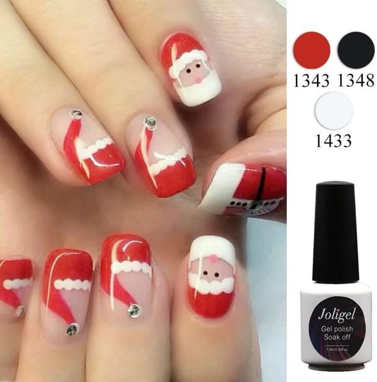 Uñas de Navideñas de Navidad 2021 Papa Noel y santa Claus