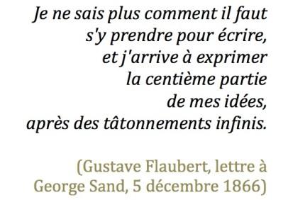 Flaubert à Sand