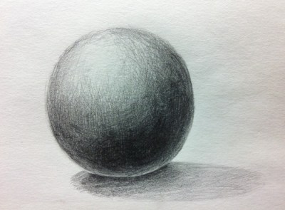 球体デッサン完成