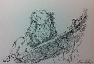 ライオンの絵