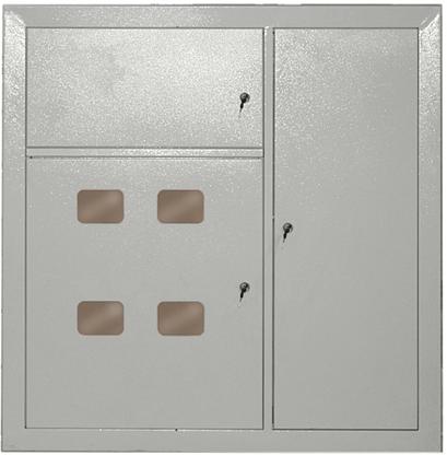 Щит этажный четырехквартирный ЩЭ.4 IP31 металлический УХЛ3